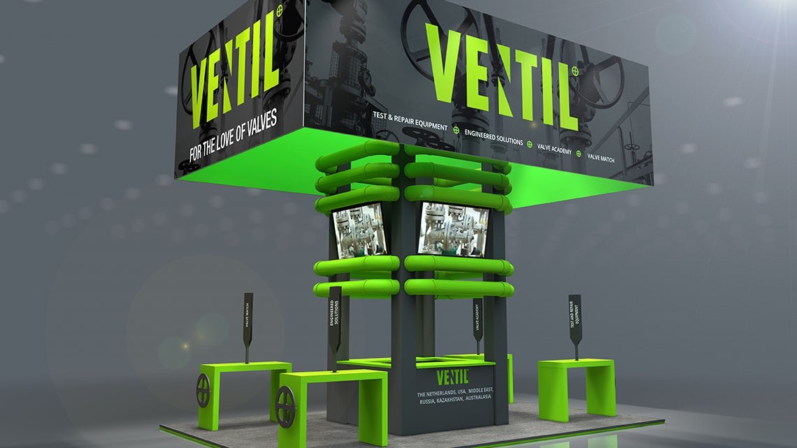 A new exhibit concept for Ventil Test and Repair Equipment